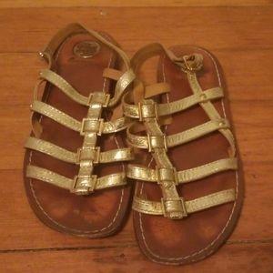 Tory Burch Gold Galdiator Sandals